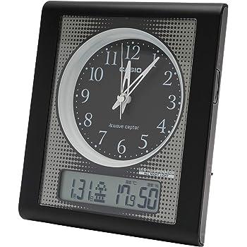 CASIO(カシオ) 目覚まし時計 電波 ブラック アナログ 常時点灯 温度 湿度 カレンダー 表示 TQT-351NJ-1JF