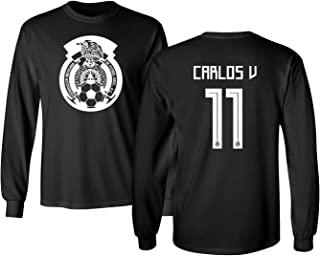Tcamp Mexico 2018 National Soccer #11 Carlos Vela World Championship Men's Long Sleeve T-Shirt