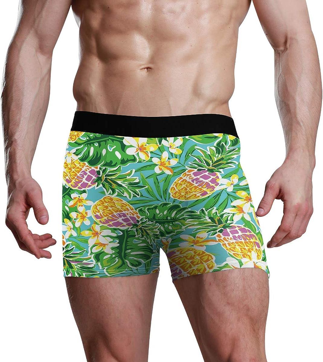Mens Underwear Boxers Vector Forest Series Seamless Mosaic Pattern ComfortSoft Boxer Briefs Breathable Bikini
