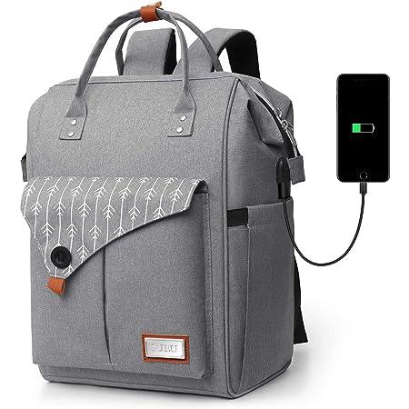 Mochila Mujer Antirrobo Impermeable, Multiusos Daypacks con Puerto de Carga USB, Mochila para portátil De 15.6 Pulgadas