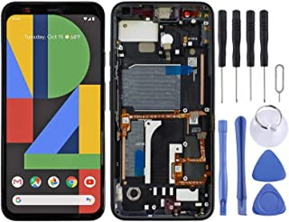 SHUHAN LCD Screen Phone Repair Part LCD Screen and Digitizer Full Assembly with Frame for Google Pixel 4 Mobile Phone Acce...