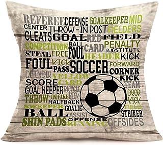 YANGYULU Quote Series Throw Pillow Covers Cotton Linen Pillowcase Square Decorative Sport Rugger Theme Throw Pillowcase Cu...