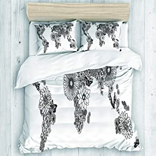 EMYPCH 3 Piece Duvet Cover Set King Size - Hand