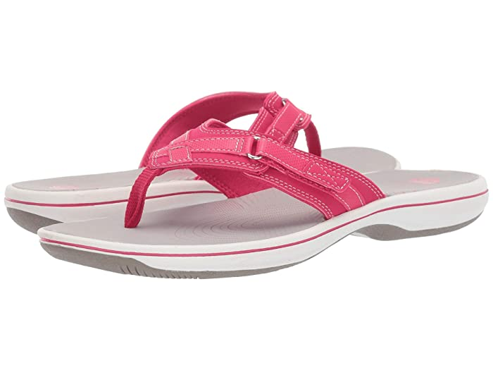 Clarks  Breeze Sea (Bright Rose Synthetic) Womens Sandals