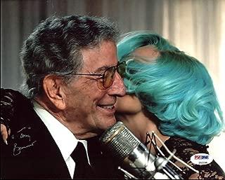 Tony Bennett Signed 8X10 Photo w/ Lady Gaga (Damaged) #Z92188 - PSA/DNA Certified