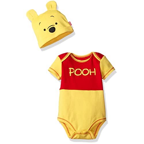 d02287ebc Disney Boys' Winnie the Pooh Bodysuit with Cap Set