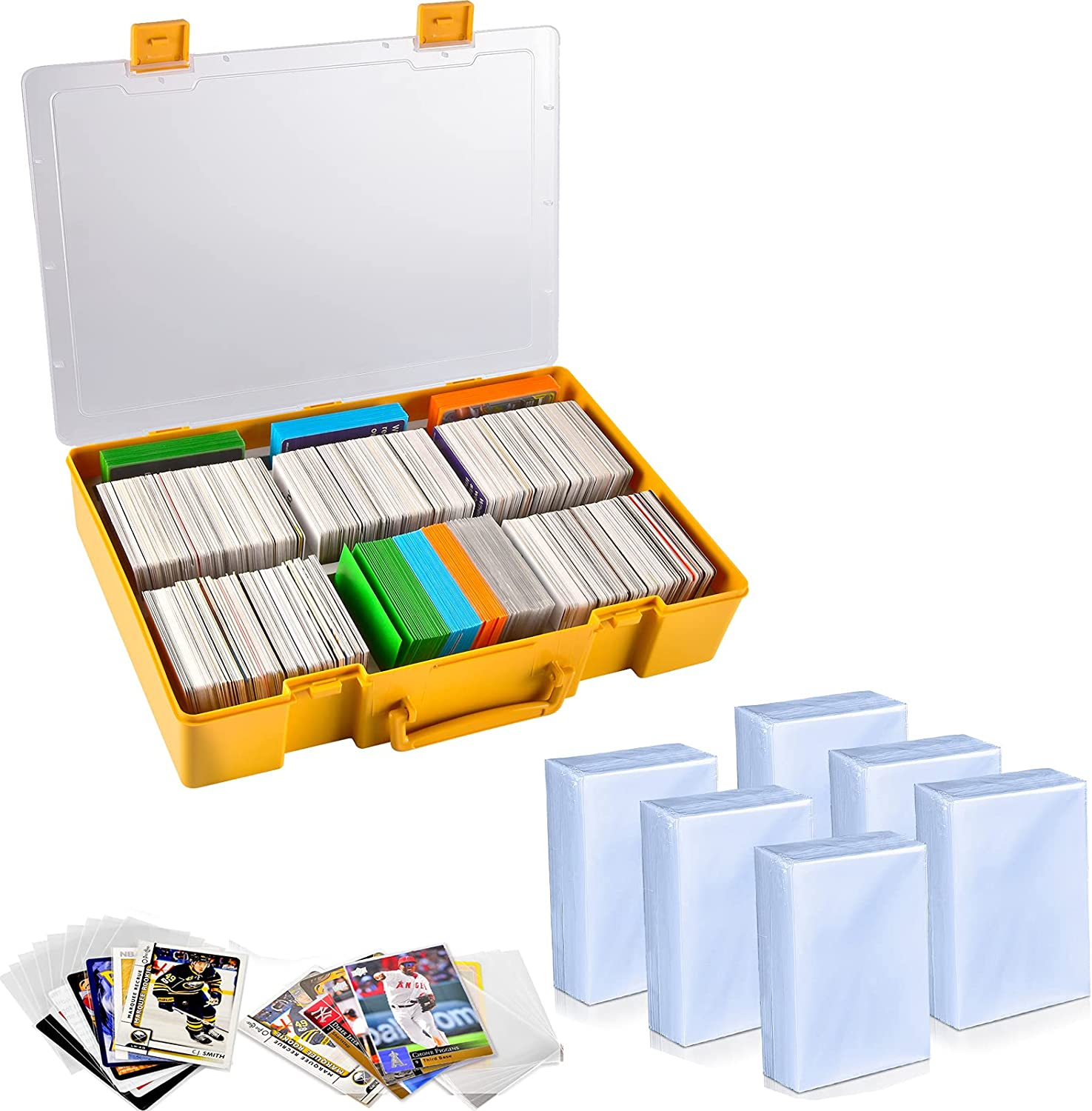 1600 Penny Sleeves Max 68% OFF Trading 5 popular Cards Tra Protectors Large with 2200+
