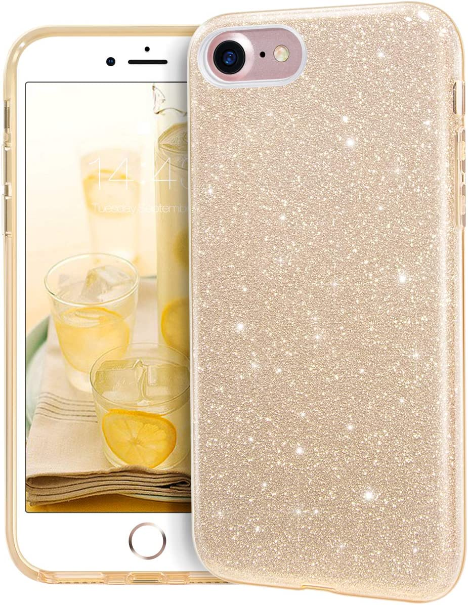 MATEPROX iPhone SE 2020 case, iPhone 8 case,iPhone 7 Glitter Bling Sparkle Cute Girls Women Protective Case for 4.7