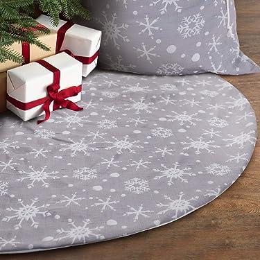 S-DEAL - Falda de árbol de Navidad (32.1in), color gris y blanco