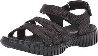حذاء Skechers حريمي GO WALK SMART - REFINED Ankle Strap ، أسود ، 9 M US