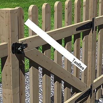 TamBee T-Strap Shed Hinge Gate Strap Heavy Duty Hinge Door Barn Gates Hinges Black Wrought Hardware Iron Rustproof (4...