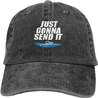 Just Gonna Send It Cowboy Cap Unisex Adjustable Dad Baseball Hats Black