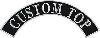 Custom Biker Vest Patch - Top Arch Style Tab - Sew On