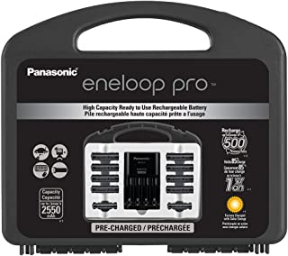 Panasonic K-KJ17KHC82A eneloop pro Capacity Power Pack, 8AA, 2AAA, with Advanced Individual Battery Charger
