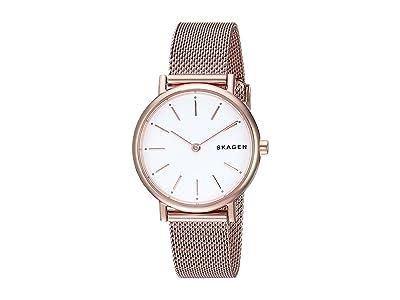 Skagen Signatur Slim Two-Hand Watch (SKW2694 Rose Gold Stainless Steel Mesh) Watches