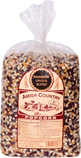 Amish Country Popcorn - Rainbow Kernels (6 Pound Bag) With Recipe Guide - Old Fashioned, Non GMO, Gluten Free