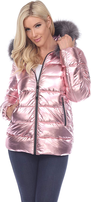 White 大決算セール ご予約品 Mark Metallic Puffer Coat Hoodie Women's Winter With