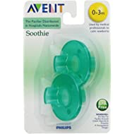 Philips Avent SCF190/01 Soothie 0-3mth Green/Green, 2 count