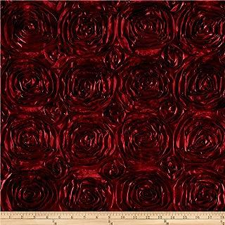 burgundy rosette fabric