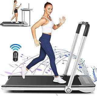 FUNMILY 2 in 1 Under Desk Folding Treadmill, 2.25HP Walking Running Machine with Bluetooth Speaker, Remote Control, Built-...