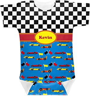 RNK Shops Racing Car Baby Onesie (Personalized)