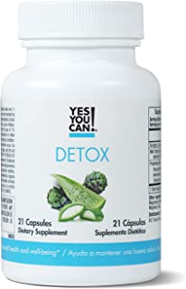 Yes You Can! Detox - 7 Day Quick Cleanse to Support Detox, Reach Ideal Weigh & Increase Energy Levels, contains Aloe Vera, Broccoli Extract, N-Acetyl L-Cysteine - Adelgazar y Dieta - 21 Capsules