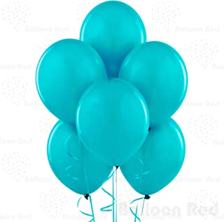 Teal 10 Inch Thickened Latex Balloons, Pack of 72, Premium Helium Quality for Wedding Bridal Baby Shower Birthday Party Decorations Supplies Ballon Baloon Thinken
