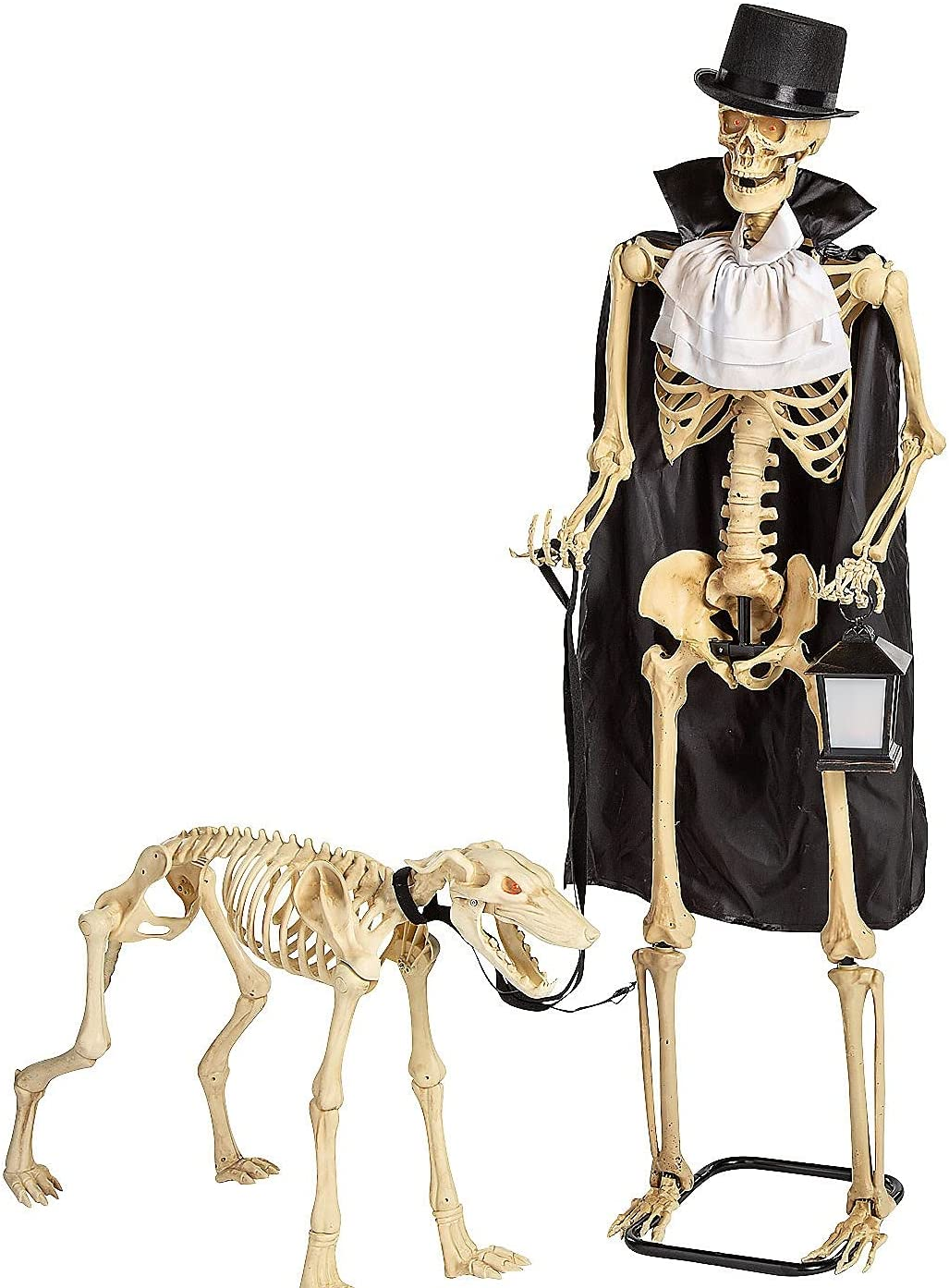 Fun Express Animated Skeleton & Dog Halloween Decorations - Scary Home Decor - 2 Pieces