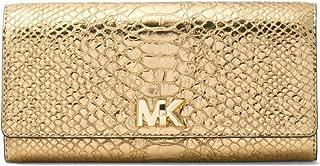 Mott Large Carryall Gold Metallic Embossed Leather Wallet