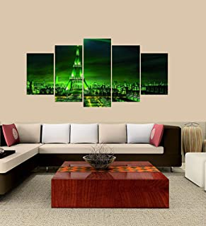 XINGAKA Premium Quality XINGAKAed Wall 5 Pieces / 5 Pannel Wall Decor Heineken Tower Painting, Home Decor Pictures - with Wooden Frame