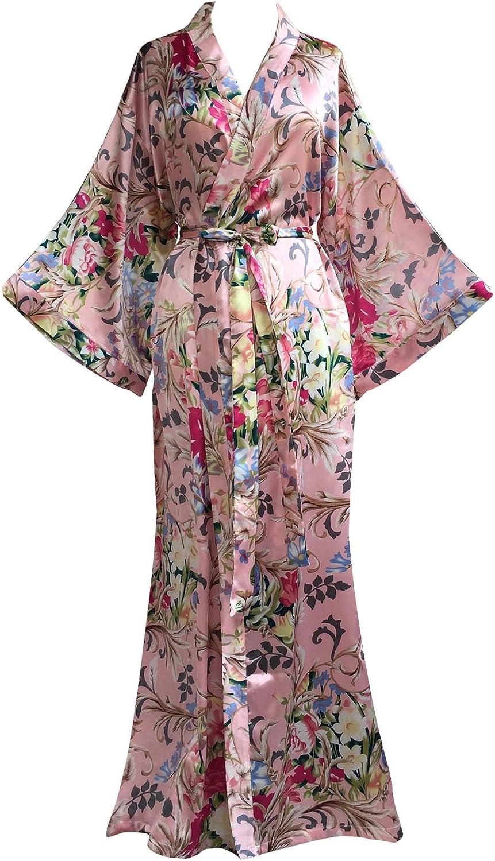 JANA JIRA Women's Kimono Robe Nightgown Year-end annual account Award-winning store Printed Louis Long with
