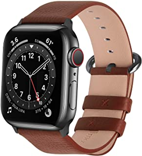 Fullmosa Compatible Apple Watch Band 38mm 40mm 42mm 44mm Calf Leather Compatible iWatch Band/Strap Compatible Apple Watch ...