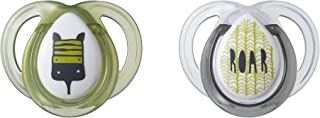 Tommee Tippee Closer to Nature Everyday Pacifier, BPA-Free, Bottle Shapped Nipple, 0-6 Months, 2 Count (Colors May Vary)