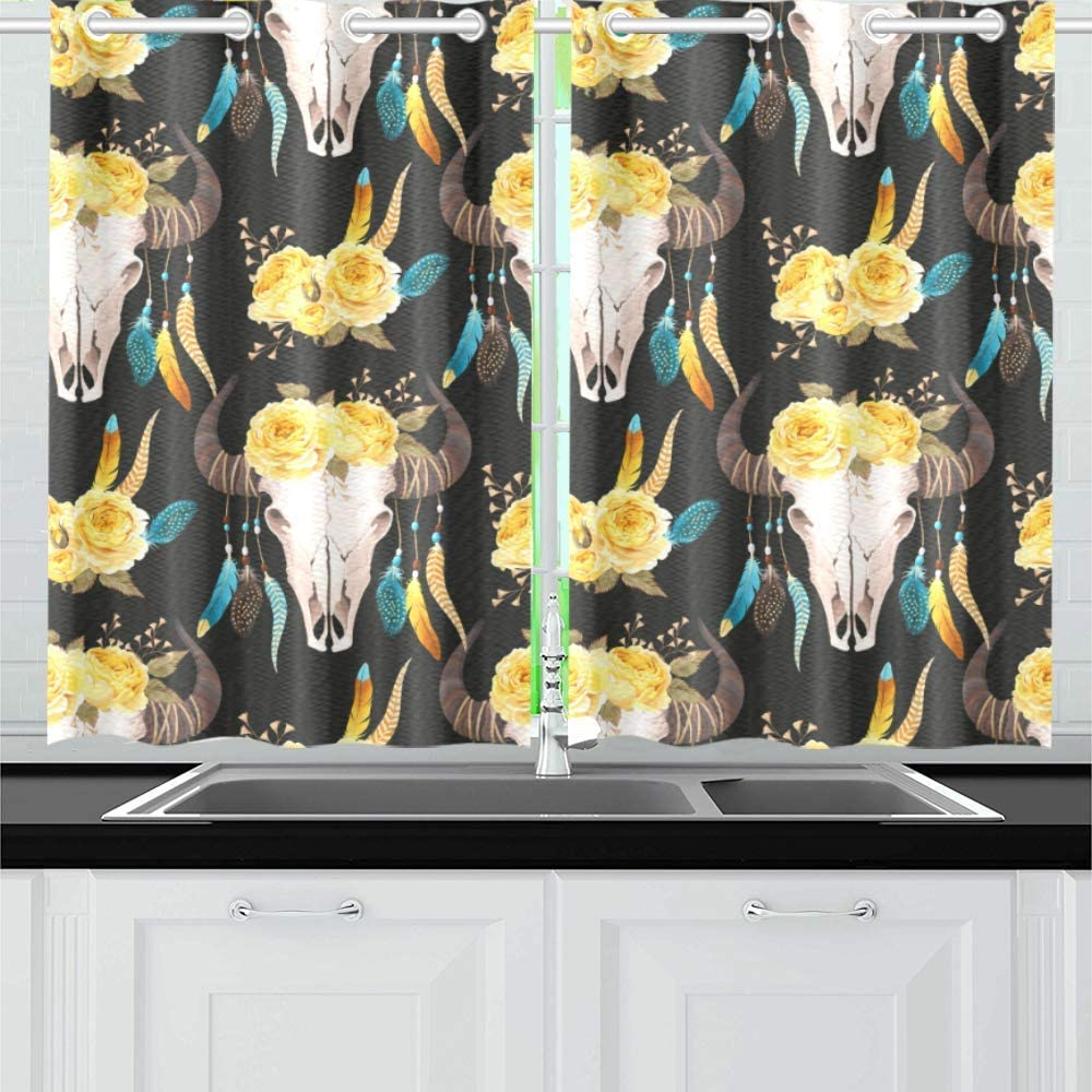 INTERESTPRINT Blackout Kitchen Window Dra Panel Treatments Special sale item Small Clearance SALE! Limited time!