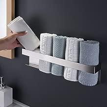 Zack GENIO Handtuchklemmleiste Edelstahl gebürstet Handtuchhaken ohne Bohren