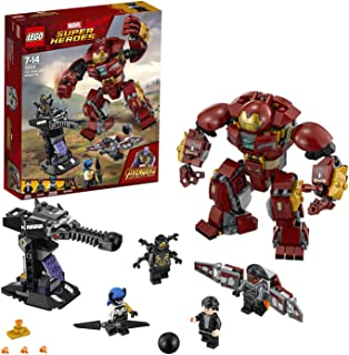 LEGO 76104 Marvel Avengers The Hulkbuster Smash-Up, Bruce Banner, Falcon, Proxima Midnight & Outrider, Wakanda Defence Playset