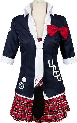 UU-Style Danganronpa Women's Jacket Coat Tie Top Skirt Unfirom Junko Enoshima Cosplay Costume