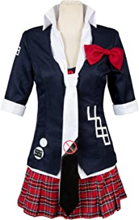 Danganronpa Women's Jacket Coat Tie Top Skirt Unfirom Junko Enoshima Cosplay Costume