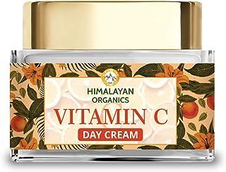Himalayan Organics Vitamin C Face Cream for Skin Brightening and Anti Pigmentation – with SPF 25 UVA/UVB – No Parabens, Si...