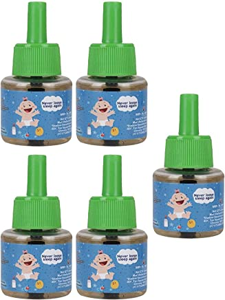 "Shadow Securitronics Happy Nights"" Mama's Choice Lemon Eucalyptus Oil Based Mosquito Vaporizer, 1 Unit X 45 ml (pack of 5)"