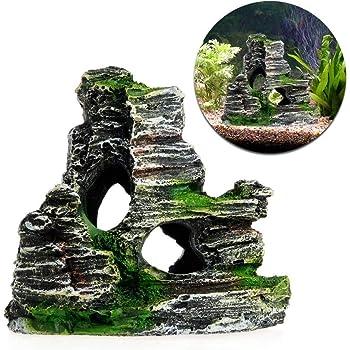 Wudi Aquarium Stone Cave Artificial Landscape Resin Stone Cave Ornament Coral Reef Rock Cave Fish Tank Decoration Amazon Co Uk Pet Supplies