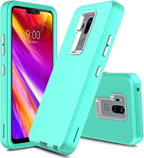Innens Compatible LG G7 Case, LG G7 ThinQ Case, 3 in 1 Hybrid Heavy Duty Shockproof Armor with Rugged Hard PC and TPU Bumper Protective Cover Case Compatible LG G7 ThinQ (2018) (Turquoise)