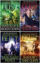 Raymond E. Feist The Serpentwar Saga 4 Books Complete Collection Set - Shadow of a Dark Queen, Rise of a Merchant Prince, Rage of a Demon King, Shards of a Broken Crown)