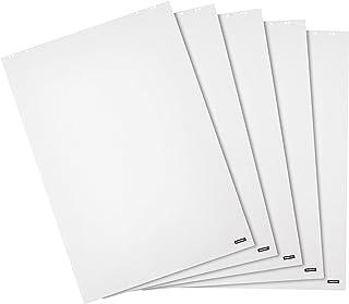Amazon Basics - Carta per lavagna a fogli mobili, pagine bianche, 20 fogli, 680 x 980 mm, (confezione da 5)