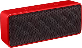 AmazonBasics Portable Wireless Bluetooth Speaker (Red)