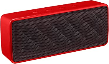AmazonBasics Portable Wireless Bluetooth Speaker - Red