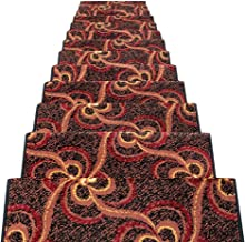 JIAJUAN Stair Carpet Treads Non-Slip Indoor Self Adhesive Treads Large Rugs Mats, 14 Mm, 6 Styles, 5 Sizes (Color : A -5 p...