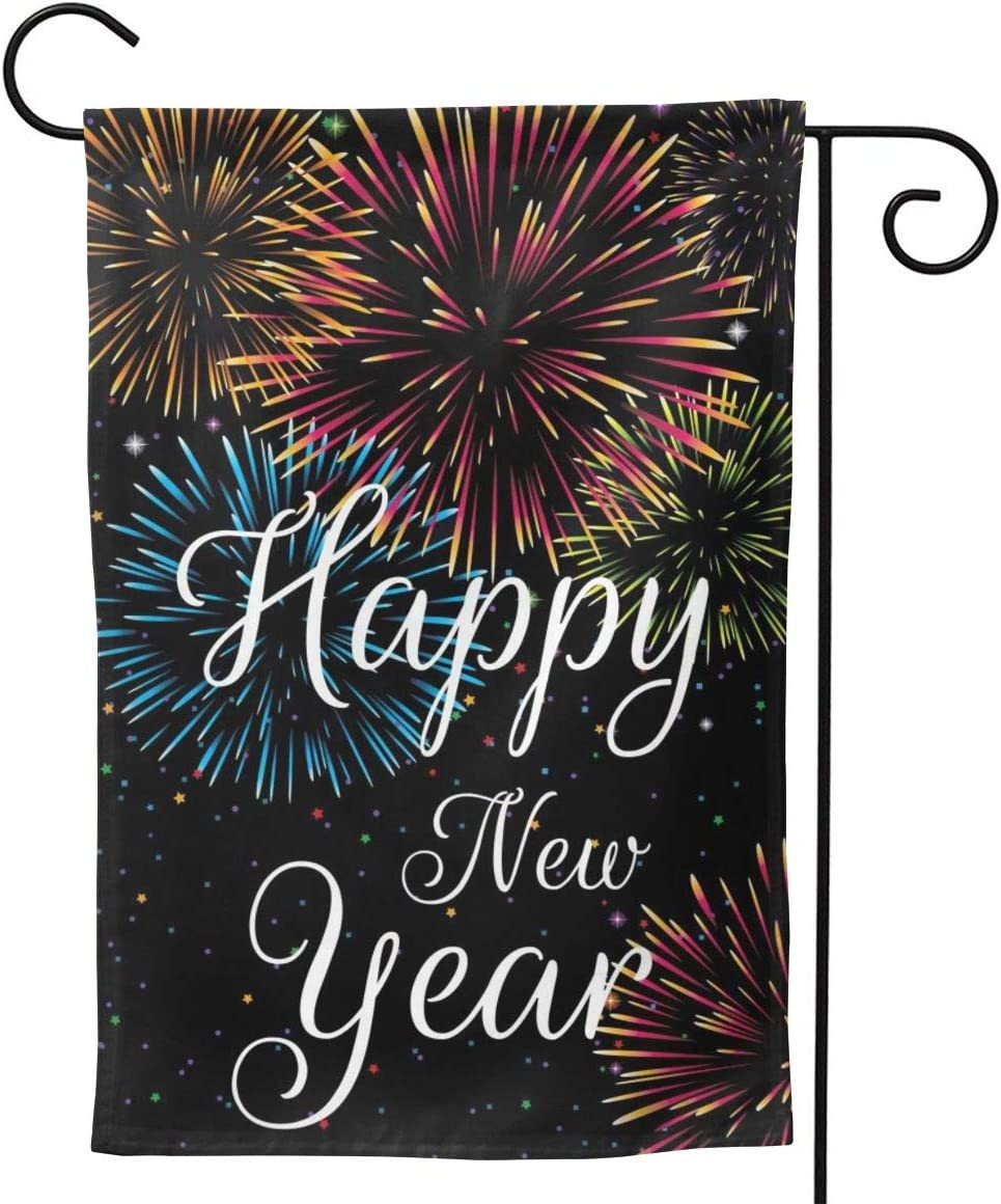 YISHOW High order Happy New NEW before selling ☆ Year Celebration Verti Double Garden Flag Sided