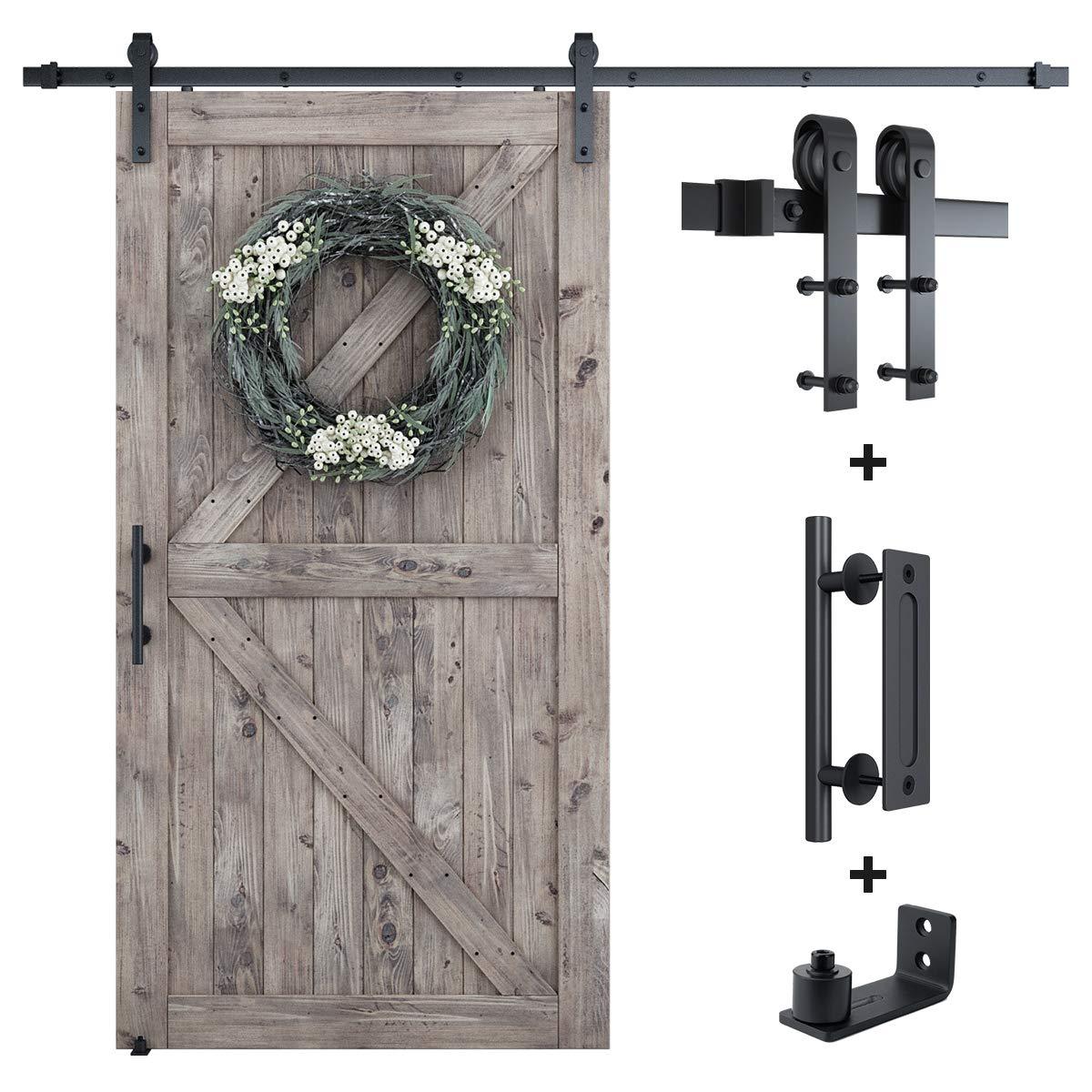 Kit de herramientas para puerta corredera de 2,4 m, barra única de 2,4 m,