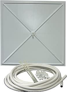 InBrella 100 White Polystyrene Plastic Ceiling Tile Leak Diverter, 2' x 2'
